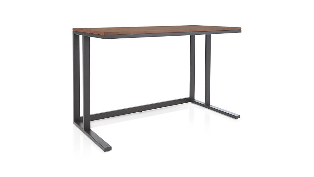 Pilsen Graphite Desk with Walnut Top