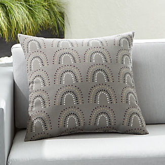 """Pin Dot Arches 20"""" Sq. Outdoor Pillow"""