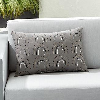 Pin Dot Arches Outdoor Lumbar Pillow