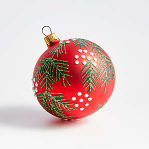 Red and Green Christmas Ornaments 2020 | Crate and Barrel