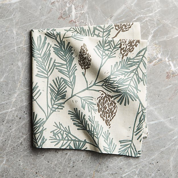 Pine Bough Cloth Dinner Napkin