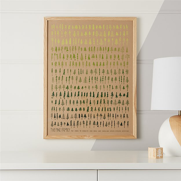 pine family framed wall art reviews crate and barrel