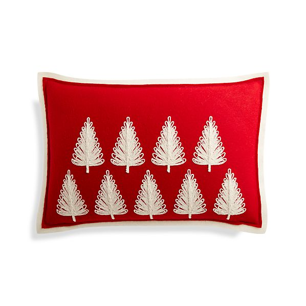 PineForestRedPillow18x12F17