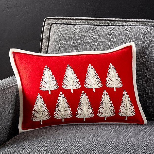 Red Pine Forest Pillow