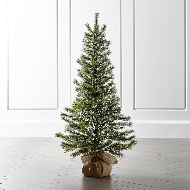 large flocked pine tree reviews crate and barrel