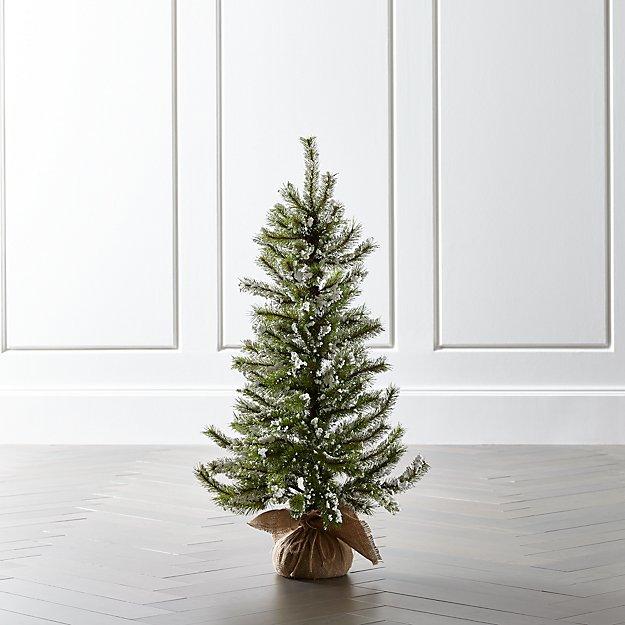 Medium Flocked Pine Tree