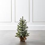 Small Flocked Pine Tree