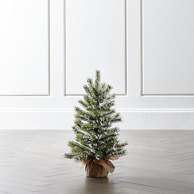 Small Flocked Pine Tree - Crate & Barrel