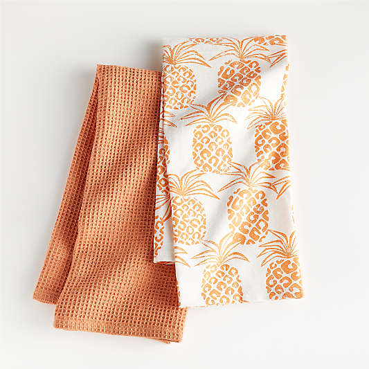 Pineapple Dish Towels, Set of 2