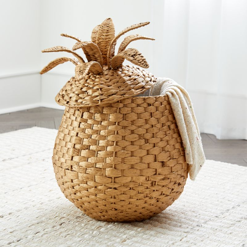 Pineapple Floor Basket Reviews Crate And Barrel
