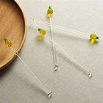 Pineapple Swizzle Sticks, Set of 4