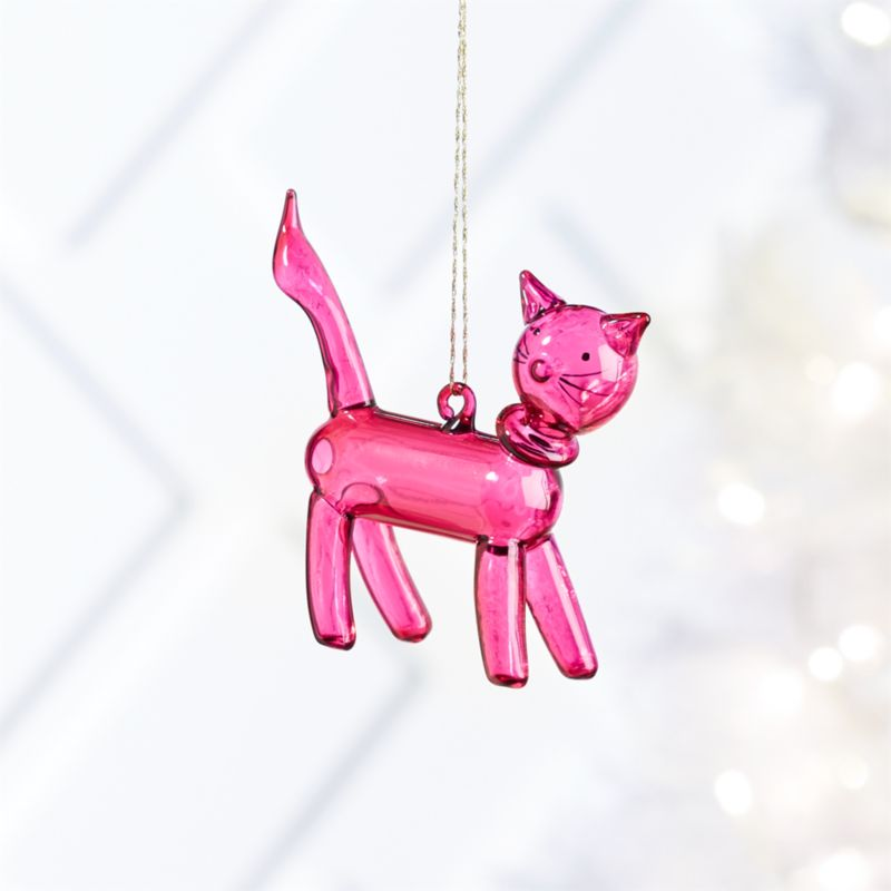 Pink Cat Balloon Animal Ornament Reviews Crate And Barrel