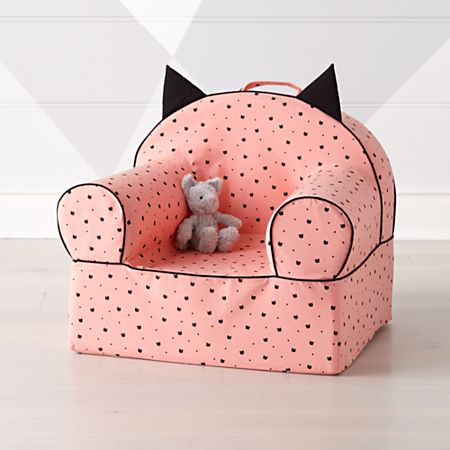 Phenomenal Large Pink Cat Nod Chair Cover Gmtry Best Dining Table And Chair Ideas Images Gmtryco