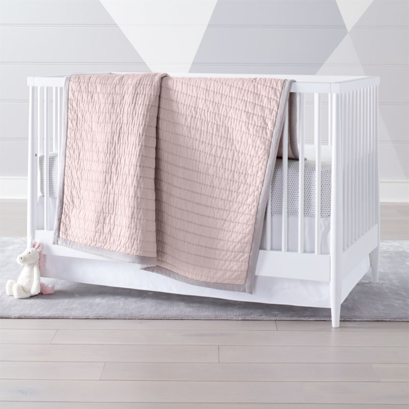Pink Cotton Crib Bedding Crate And Barrel