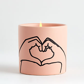 Pink Heart Candle