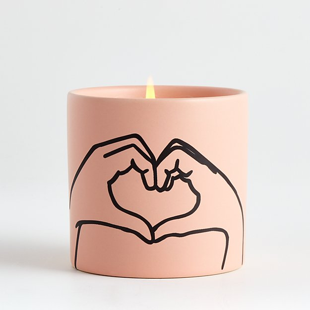 Pink Heart Candle - Image 1 of 4
