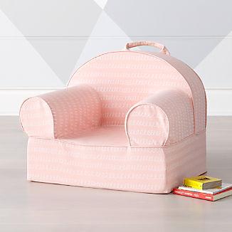 Small Pink Loop Nod Chair