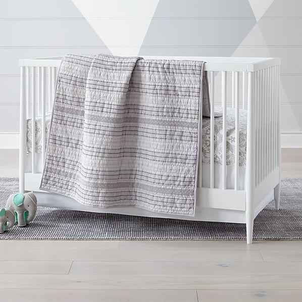 Pattern Play Grey Crib Bedding Crate