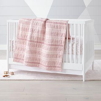 Pattern Play Pink Crib Bedding