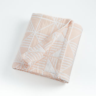 Pink Triangle Bed Blanket