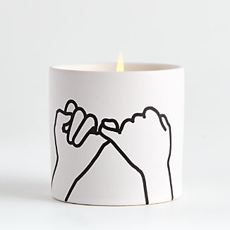 White Pinky Promise Candle