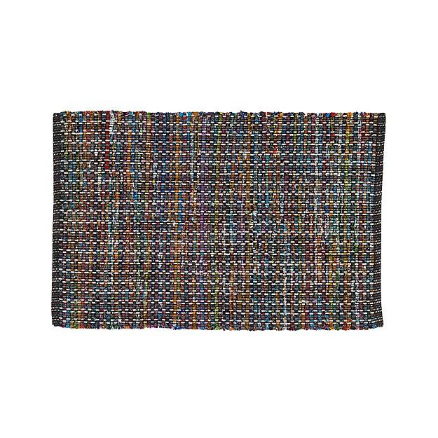 Pinstripe Black 2'x3' Rug