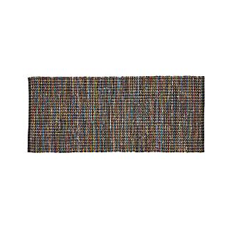 Pinstripe Black 2.5'x6' Rug Runner
