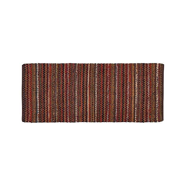 Pinstripe Copper 2.5'x6' Rug Runner