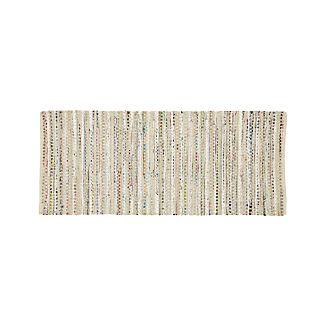 Pinstripe Ivory 2.5'x6' Rug Runner