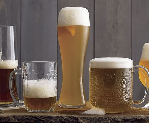 Craft beer mugs and glasses