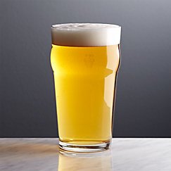 Pint Glass Tumbler with Crown
