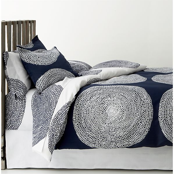 Pippurikera Navy Full-Queen Duvet Cover