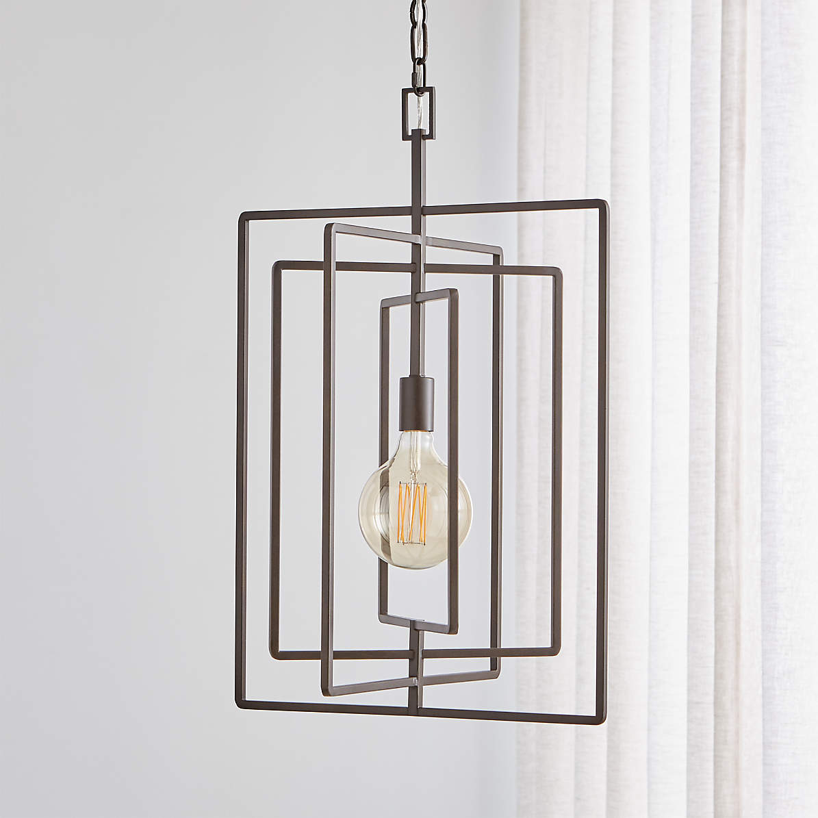 Image of: Pivot Black Caged Pendant Light Reviews Crate And Barrel