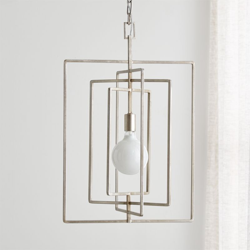 Pivot Silver Leaf Pendant Lamp by Crate&Barrel