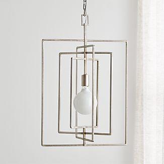 Pivot Silver Leaf Pendant Lamp