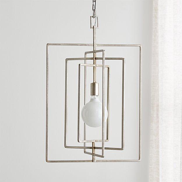 Pivot silver leaf pendant lamp reviews crate and barrel pivotsilverleafpendantshf17 aloadofball Gallery