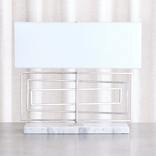 Pivot Silver Leaf Table Lamp
