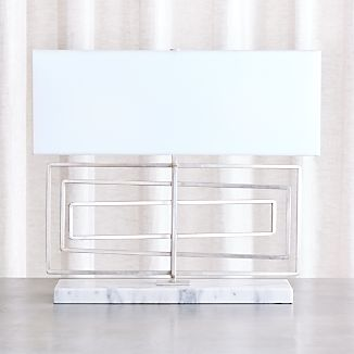 Pivot Silver Leaf Table Lamp