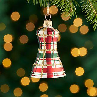 Plaid Bell Ornament.