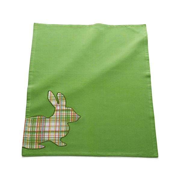 Plaid Bunny Dishtowel