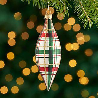 Plaid Drop Ornament
