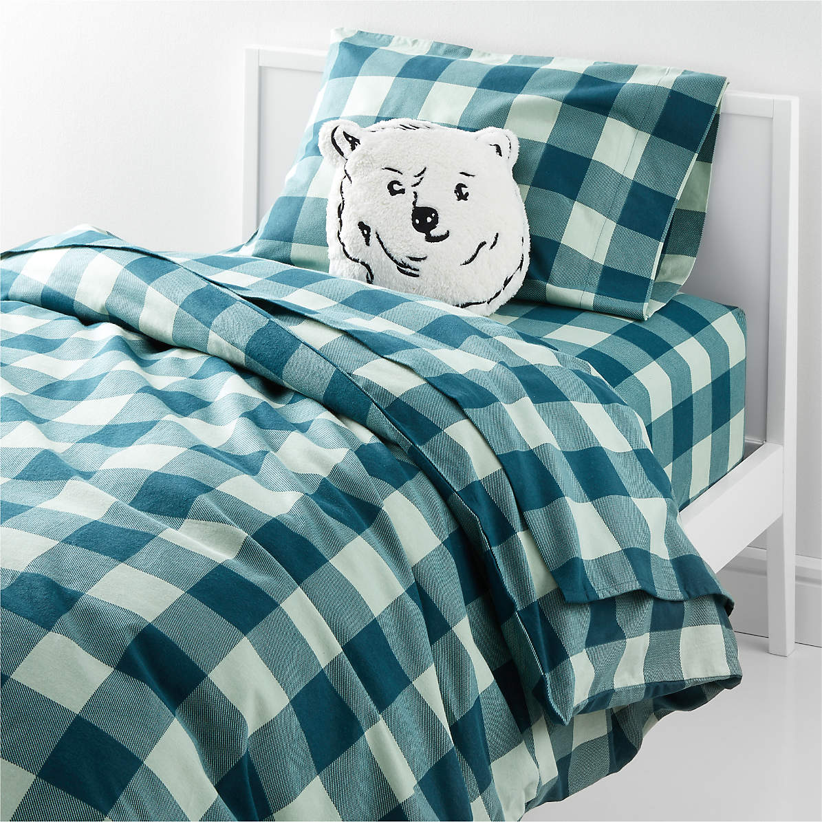 Organic Plaid Flannel Bedding Crate And Barrel