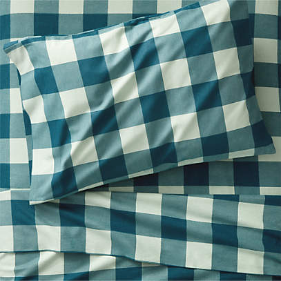 Organic Plaid Flannel Sheet Set Crate And Barrel Canada