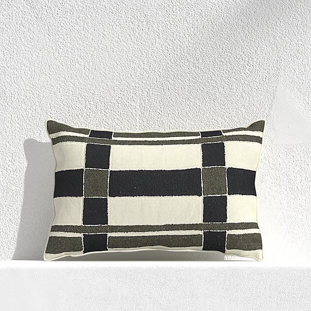 """Mohave Plaid 20""""x13"""" Outdoor Pillow - Image 1 of 3"""
