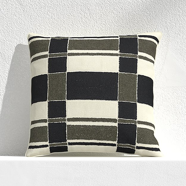 """Mohave Plaid 20"""" Outdoor Pillow - Image 1 of 3"""