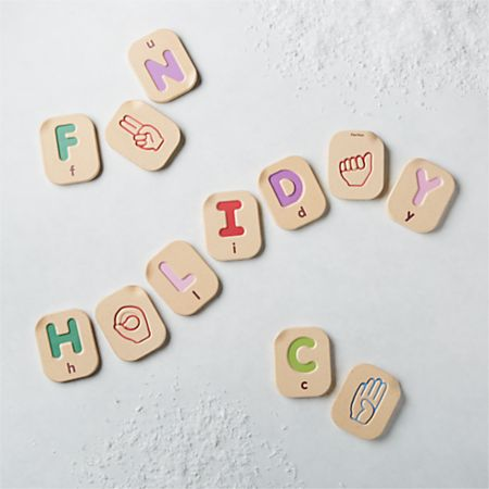 Plan Toys Hand Sign Alphabet A to Z Wooden Flash Cards + Reviews | Crate  and Barrel