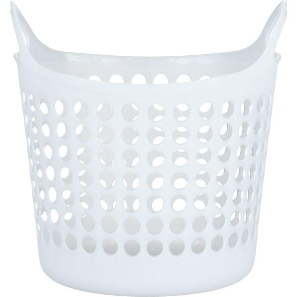 Small White Plastic Basket