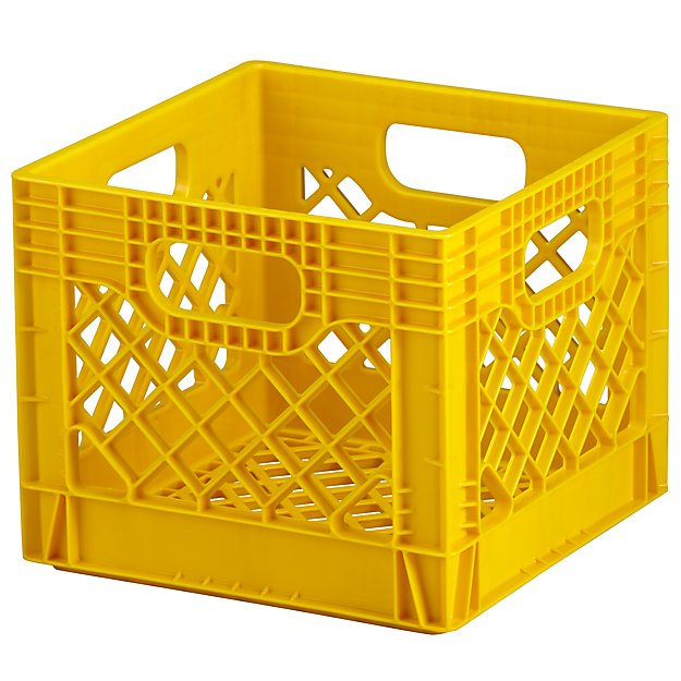 Yellow Milk Crate Storage Reviews Crate And Barrel