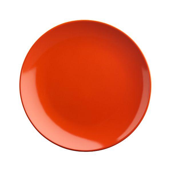 "Orange 6.5"" Appetizer Plate"