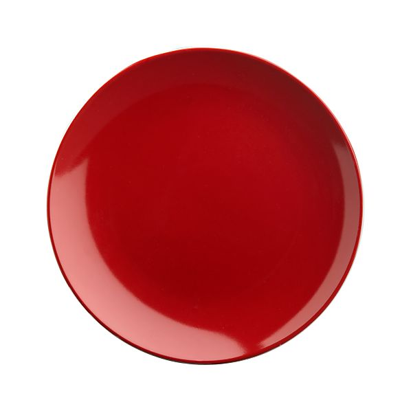 "Red 6.5"" Appetizer Plate"
